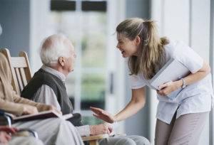 Пожилой инвалид