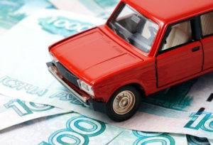 Модель автомобиля ВАЗ на купюрах