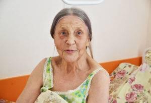 Пенсионерка в больнице