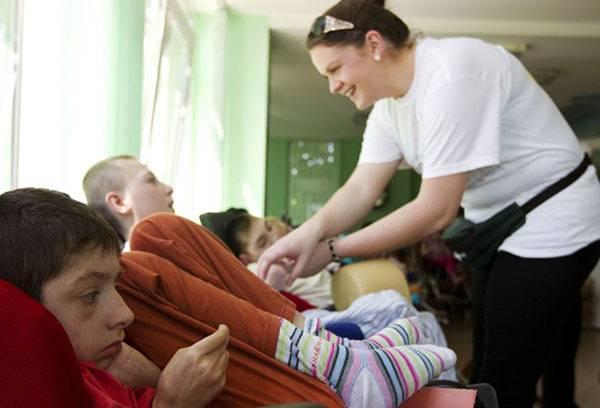 Дети-инвалиды в санатории