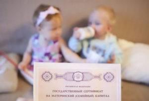 Сертификат на маткапитал за двойняшек