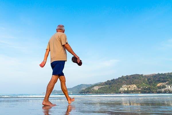 Пенсионер на отдыхе