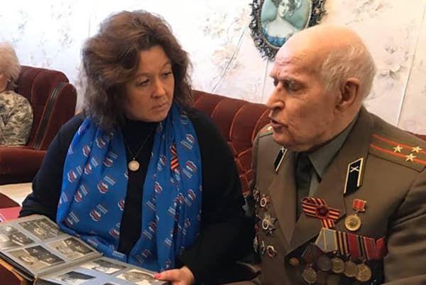 Ветеран ВОВ в своей квартире