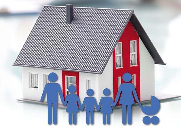 Дом в собственности семьи с детьми